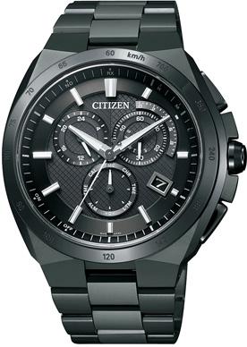 【シチズン】 CITIZEN ソーラー 電波 腕時計 メンズ AT3014-54E クロノグラフ ATTESA アテッサ