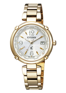 【シチズン】 CITIZEN ソーラー 電波 腕時計 レディース EC1042-51A TITANIAライン ハッピーフライトクロスシー xC 北川景子 CM着用モデル