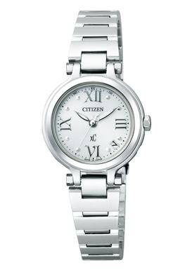 【シチズン】 CITIZEN ソーラー 電波 腕時計 レディース ES6000-76A TITANIAライン ハッピーフライトクロスシー xC 北川景子 CM着用モデル