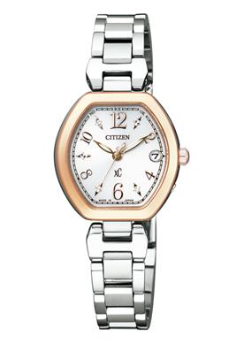 【シチズン】 CITIZEN ソーラー 電波 腕時計 レディース ES8055-65A TITANIAライン ハッピーフライトクロスシー xC 北川景子 CM着用モデル