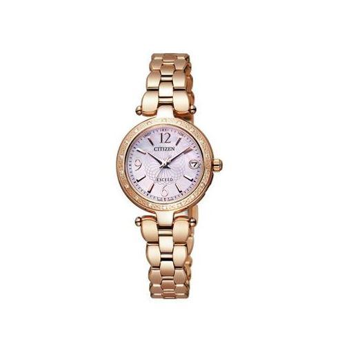 シチズン CITIZEN EXCEED エクシード 腕時計 レディース ES8002-53W エコ・ドライブ 電波時計