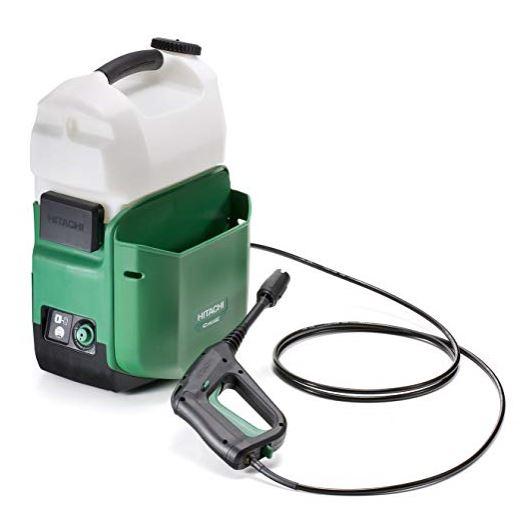 日立 14.4V セット品 6.0Ah電池・充電器付 コードレス高圧洗浄機 AW14DBL-LYP ハイ工機