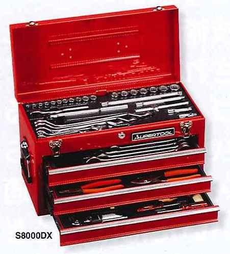 【スーパーツール】 プロ用デラックス工具セット S8000DX