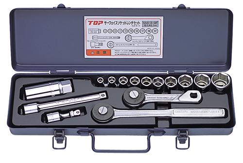 【トップ工業】 TOP サーフェイスソケットレンチセット差込角9.5mm SSS-310F