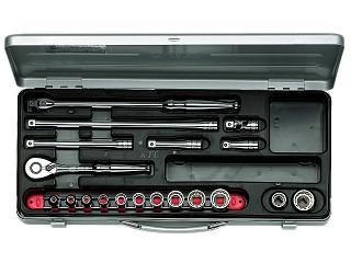 【KTC】 9.5SQ ソケットレンチセット ミリ TB312X