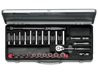 【KTC】 9.5SQ ディープソケットレンチセット ミリ TB3X20