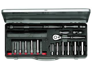 【KTC】 9.5SQ ディープソケットレンチセット ミリ TB3L11X