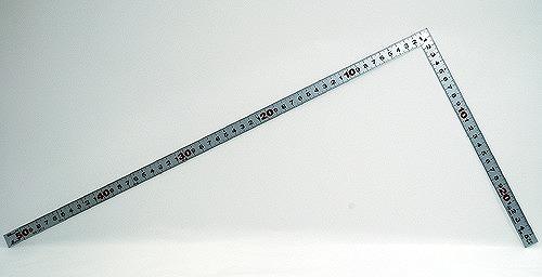 シンワ 超激安 曲尺 セール特価 平ぴたシルバー 10016 裏面角目 50cm