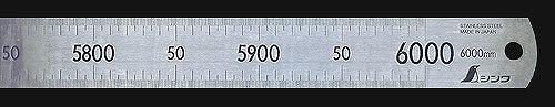 別途運賃 1890円~ シンワ 直尺 ステン 6m 14109 代引不可 直送品