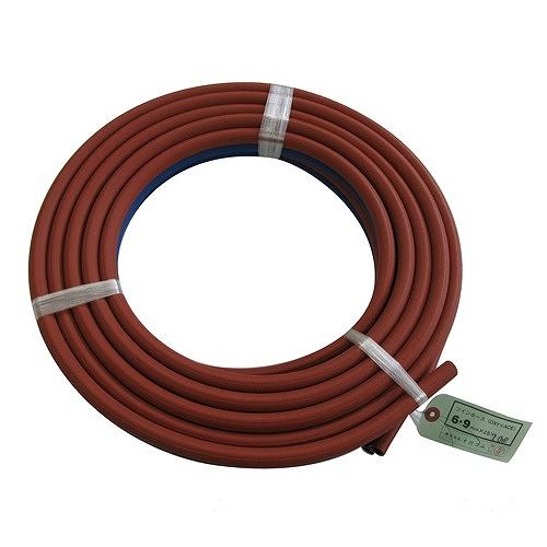 【スズキット スター電機】 ガス部材 ツイン ガスホース 酸素 6.5 アセ 9.5φ 30m W-80