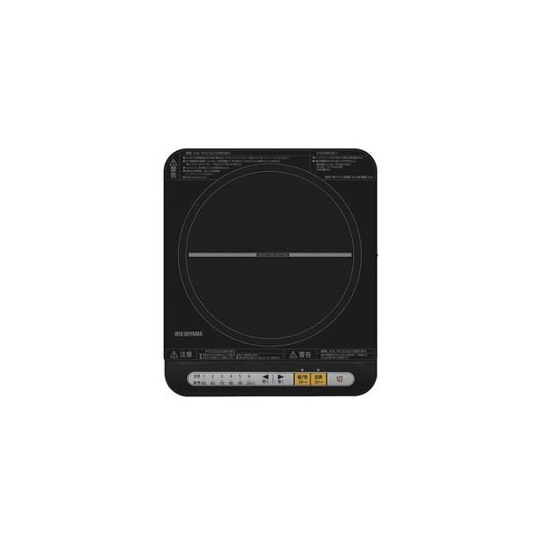 【アイリスオーヤマ】 ガラストップIHクッキングヒーター 卓上IH調理器 ブラック IHコンロ(1400W)  ≪IHK-T33-B≫ I-01