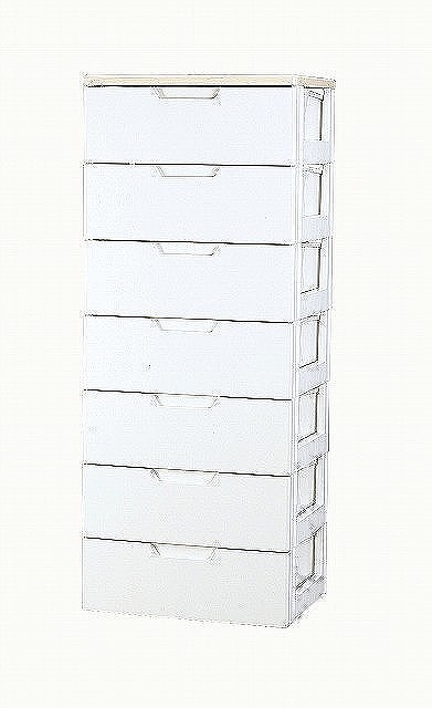 【アイリスオーヤマ】 ウッドトップチェスト ホワイト/ペアー ≪HG-557B≫ 【直送品】【代引不可】