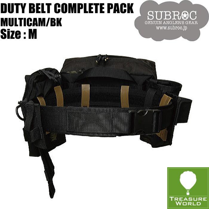 SUBROC(サブロック)デュティベルトコンプリートパックマルチカム ブラック/Mサイズ