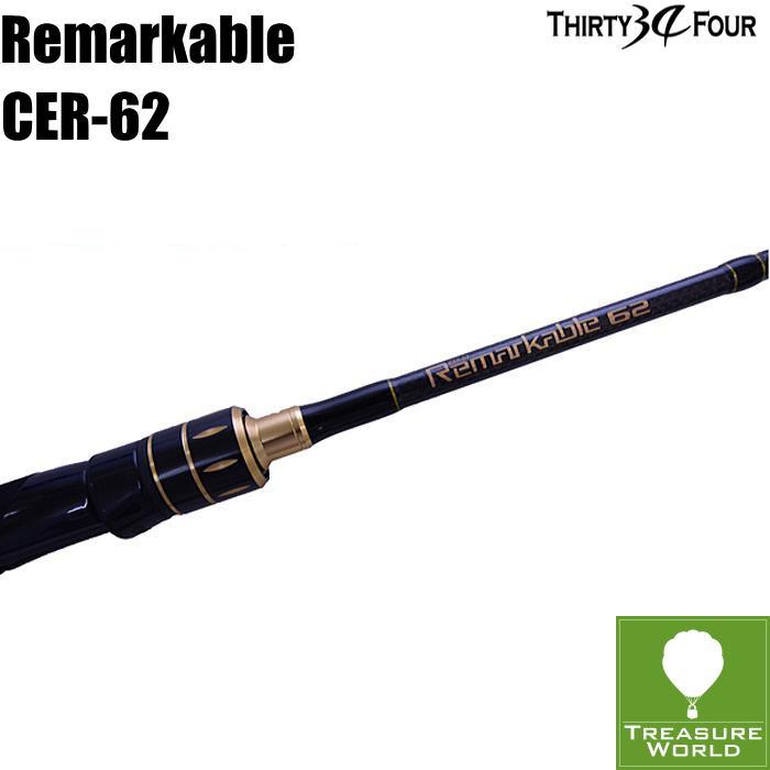 34 THIRTY FOUR(サーティフォー)Remarkable(リマーカブル)CER-62 【ボートアジングロッド】