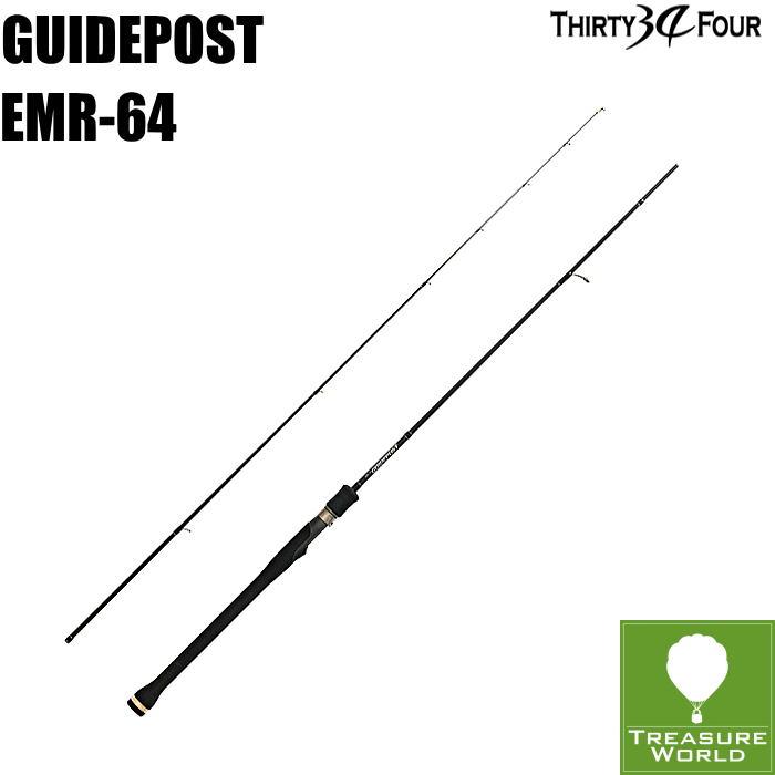 34 THIRTY FOUR(サーティフォー)GUIDEPOST(ガイドポスト)EMR-64 【ボートアジングロッド】