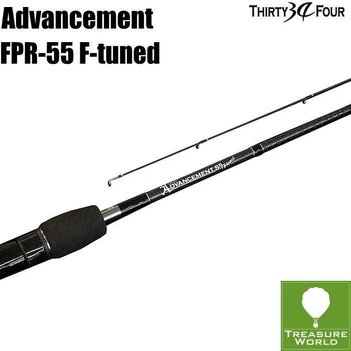 34 THIRTY FOUR(サーティフォー)ADVANCEMENT(アドバンスメント)FPR-55 F-tuned【アジングロッド】【メバリングロッド】
