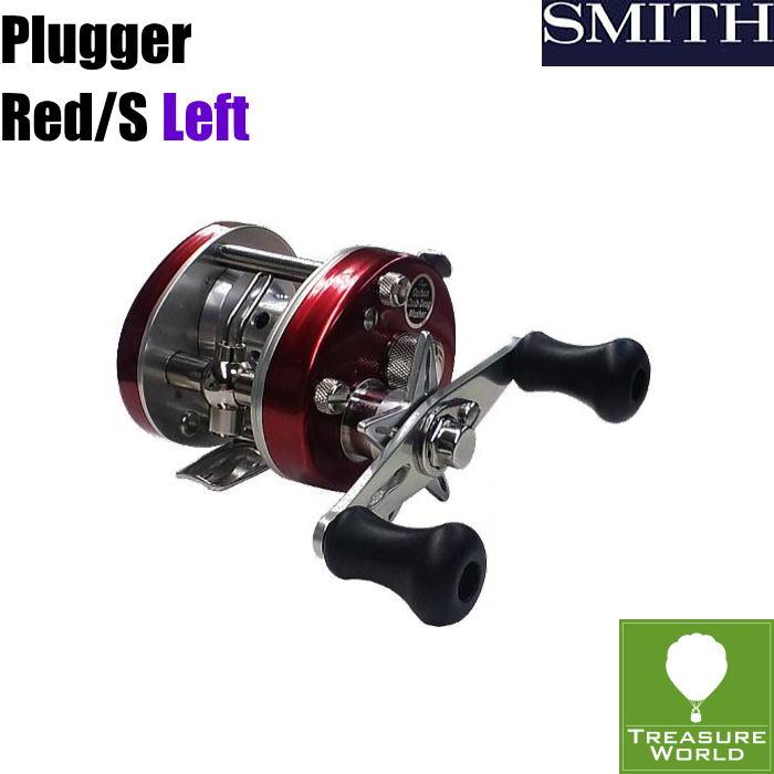 ★予約商品★SMITH(スミス)ベイトキャスティングリールPlugger(プラッガー)Red/S左ハンドル〔分類:ルアーフィッシング〕