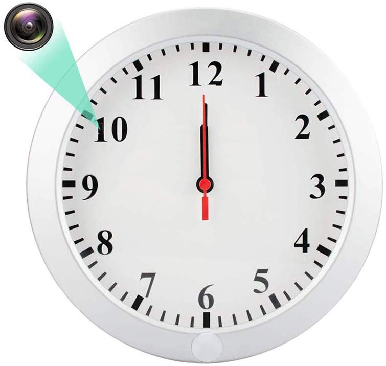 置き時計型カメラ i-pelay 掛け時計カメラ 小型カメラ 防犯カメラ 高画質 留守監視 長時間録画 動体検知