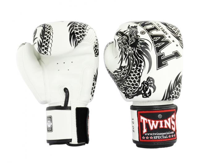 TWINS SPECIAL ボクシンググローブ 10oz 龍白 /ボクシング/ムエタイ/グローブ/キック/フィットネス/本革製/ツインズ