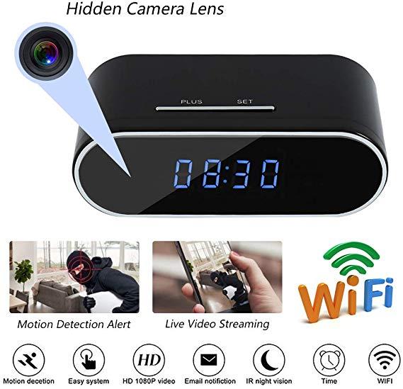 置時計 カメラ wifi 小型カメラ 時計型隠しカメラ フルカメラ 広角160° ループ録画 暗視機能 動体検知 リアルタイム遠隔監視