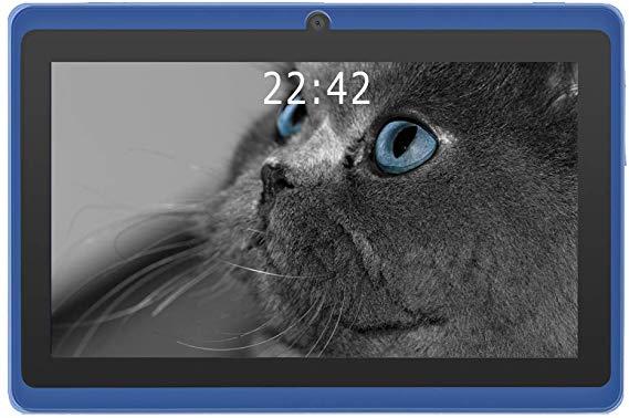 7インチタブレット Q88 Tablet PC 1GB RAM+16GB ROM Android 8.1 クアッドコア 1.5GHz HD1024*600 google play WIFI Bluetooth (ブルー)