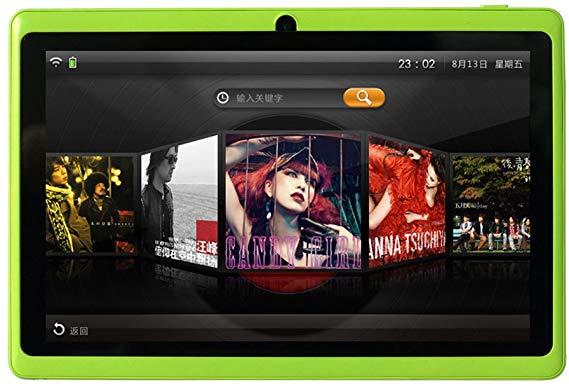 7インチタブレット Q88 Tablet PC 1GB RAM+16GB ROM Android 8.1 クアッドコア 1.5GHz HD1024*600 google play WIFI Bluetooth (グリーン)