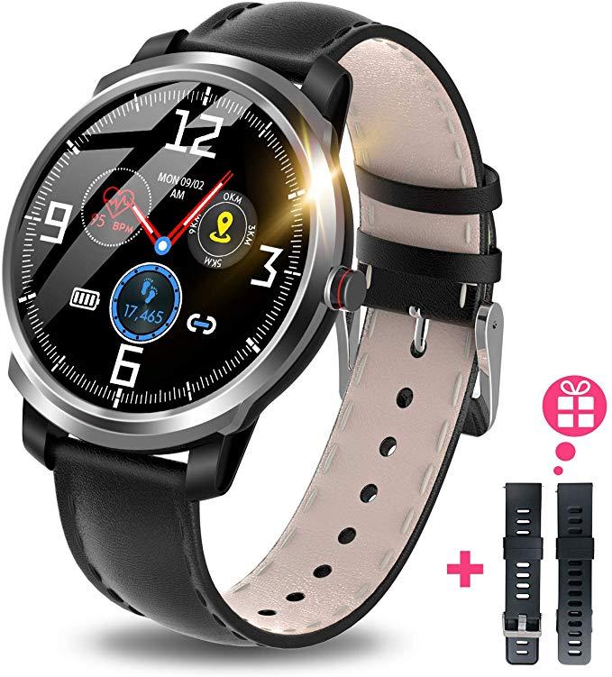 スマートウォッチ Bluetooth5.0 活動量計 歩数計 心拍計 健康管理 多運動モード IP68完全防水 着信通知 音楽再生コントロール GPS運動記録 消費カロリー 睡眠モニター 長い待機時間 iPhone/Android対応