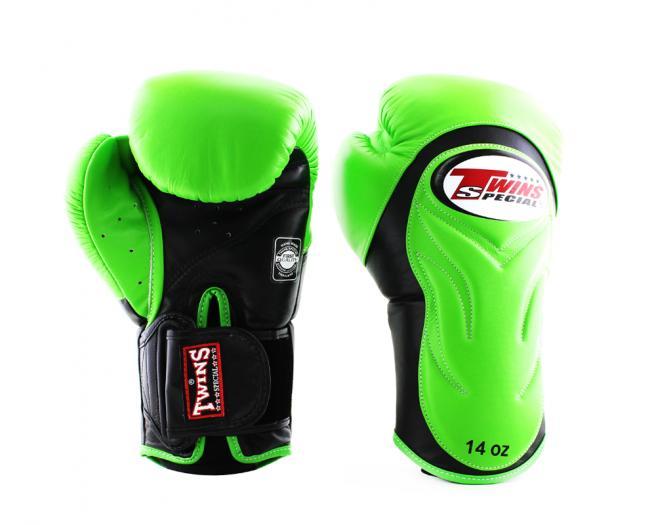 TWINS SPECIAL ボクシンググローブ 8oz 10oz 12oz 14oz 16oz 緑 白/ボクシング/ムエタイ/グローブ/キック/フィットネス/本革製/ツインズ