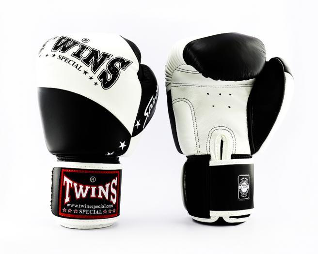 TWINS SPECIAL ボクシンググローブ 14oz 白 黒/ボクシング/ムエタイ/グローブ/キック/フィットネス/本革製/ツインズ