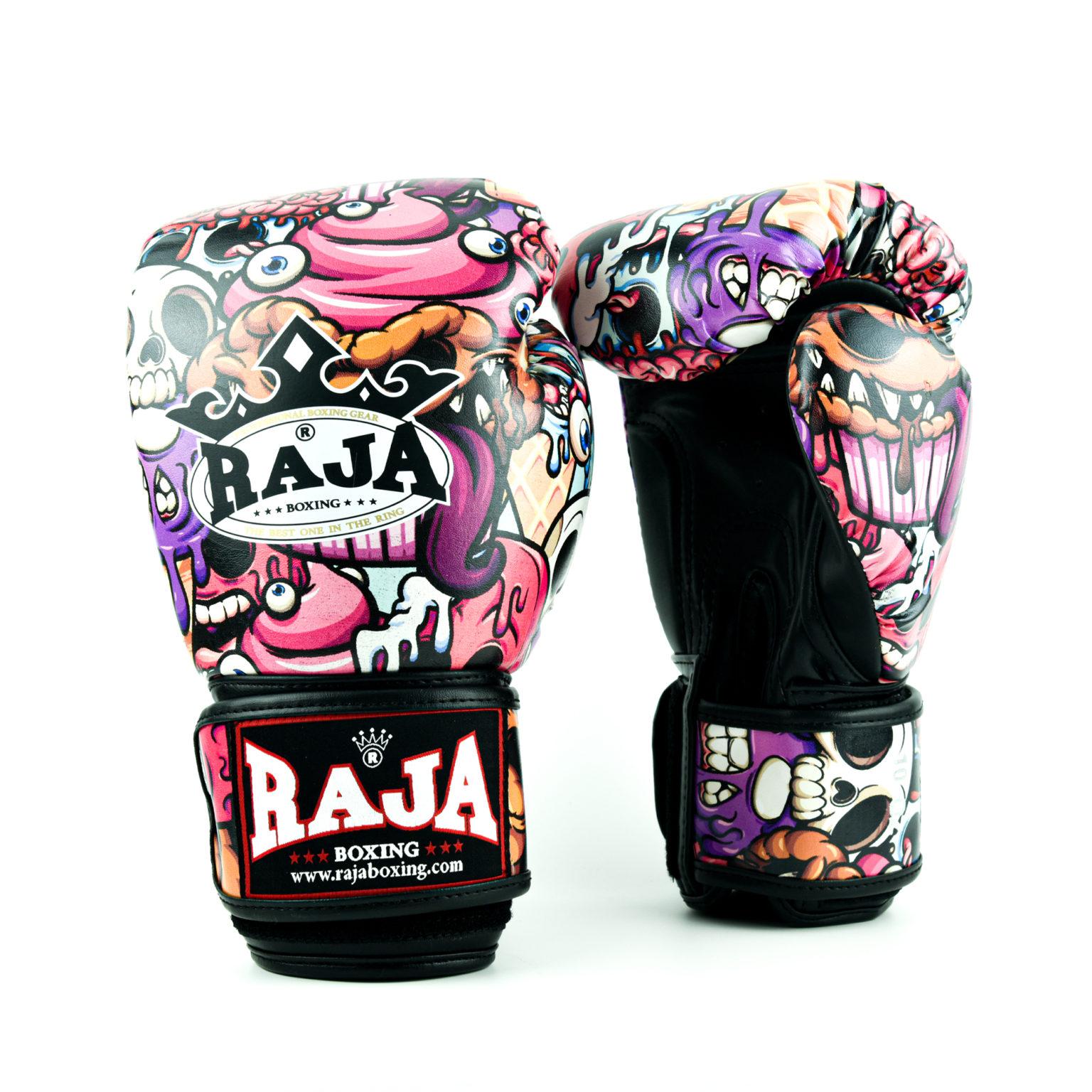 大人気ブランドRAJA RAJA グローブ キックボクシング ボクシング 総合格闘技 テコンドー 空手 トレーニング ブラック 黒 8oz 10oz 12oz 14oz 16oz