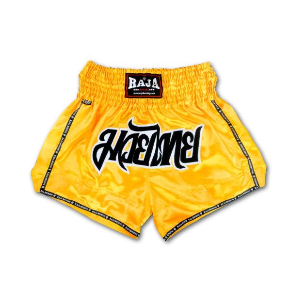 練習用 上等 試合用などに RAJA ムエタイパンツ キックボクシング ボクシング トレーニング 贈与 黄色 部屋着 総合格闘技 空手 テコンドー