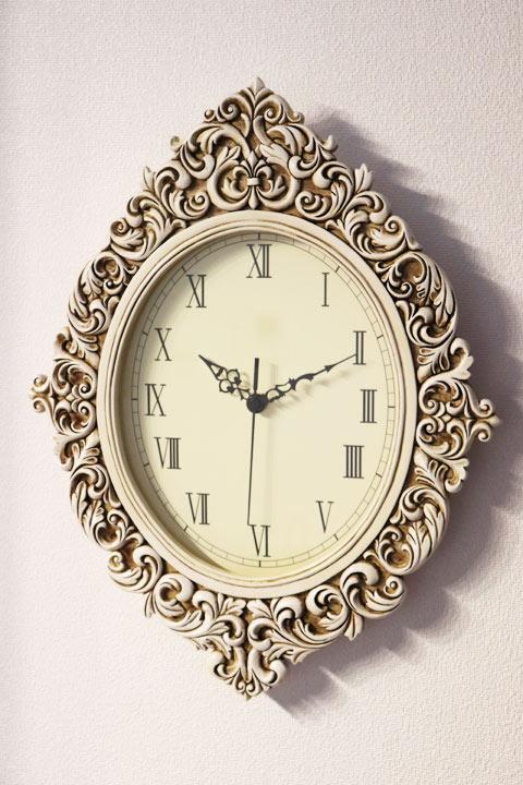 アンティーク オーバルクロック 時計 壁掛けプレゼント