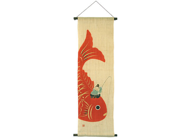 ( 和みタペストリー 鯛恵比寿 )  恵比寿 めで鯛 鯛 タペストリー 画プレゼント