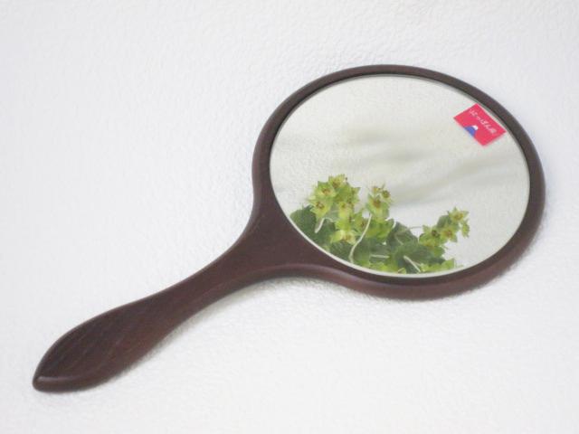 にっぽん産 お中元 素材にこだわり抜いたハンドミラー ハンドミラー DB 手鏡 木製 画プレゼント 鏡 好評受付中 ミラー 39送料無料 日本製