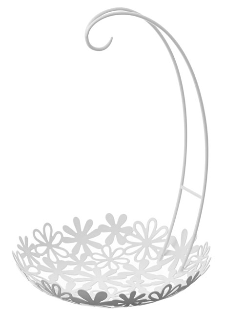 カウンターやテーブルの上ですっきり 綺麗に 魅せる収納 5☆大好評 ができます バナナスタンド フラワーバスケット 激安通販販売 バスケット フック フルーツ 画プレゼント ホワイト バナナ