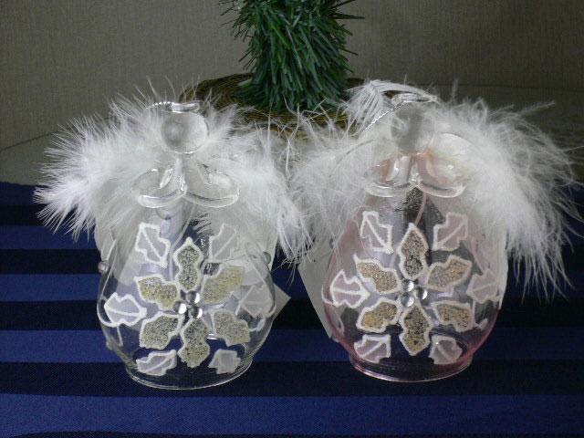 聖夜を飾る素敵な天使たち クリスマス グラスエンジェルセット フラワー2P ピンク クリアー 売り込み オーナメント ガラス 国内送料無料 RPC _P2プレゼント 天使 HLS_DU