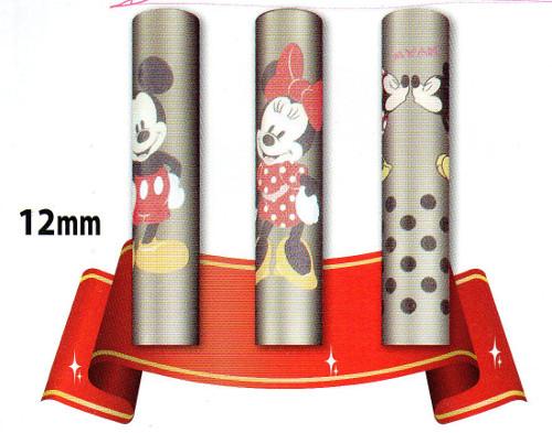 ディズニーのかわいいはんこ印鑑。実印,銀行印にも使えます。チタン製 。15mm×60mm。おしゃれなポーチ付き。