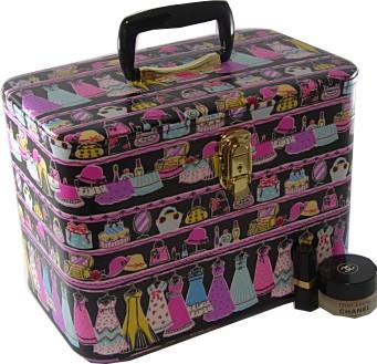 メイクボック メークボックス、クローゼットハンガー33cmヨコブラックお化粧入れ 半ツヤ 送料無料 バニティケース 持ち運び 日本製 (バラ、バッグ、香水、帽子、プレゼント、鏡、かわいい おしゃれ)