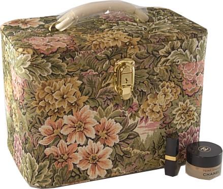 メイクボックス。ゴブラン33cm ヨコ お化粧入れ、日本製。高級品。