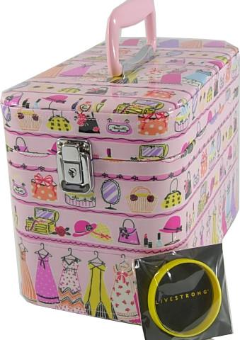 メイクボックス。クローゼットハンガー、30cmピンク。エナメル.LIVESTORONG協賛商品です。【smtb-k】【kb】日本製高級品。送料無料!