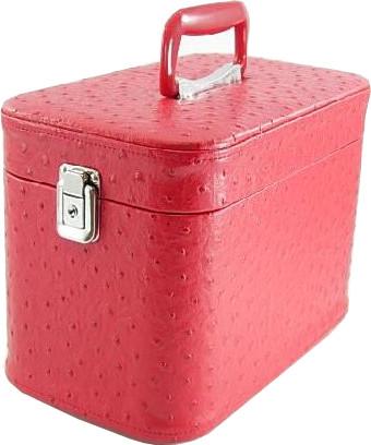 かわいい メイクボックス。コスメボックス オーストリア30cmレッドお化粧入れ日本製。