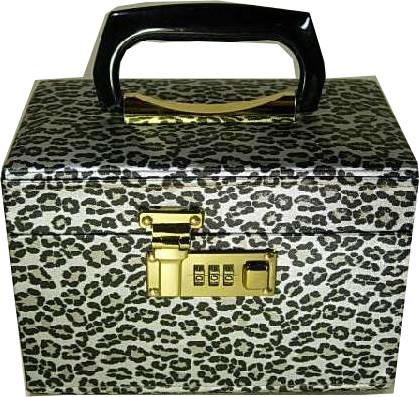 新商品、高級品。メイクボックス。バニティー アニマルシルバー コスメケース.※日本製です。05P24Oct15