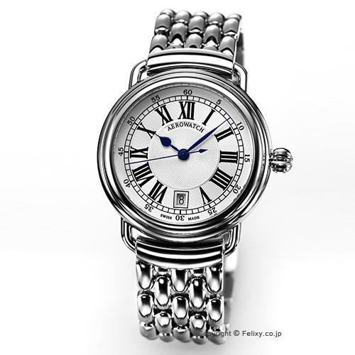 AEROWATCH アエロウォッチ メンズ腕時計 Collection1942 Gent (コレクション1942) ホワイトシルバー A42900AA01M 【あす楽】