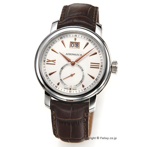 AEROWATCH アエロウォッチ メンズ腕時計 Renaissance Elegance (ルネッサンス エレガンス) シルバー A41937AA04 【】