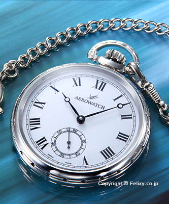 AEROWATCH アエロウォッチ 懐中時計 50685CH01 手巻き シルバー/ホワイト