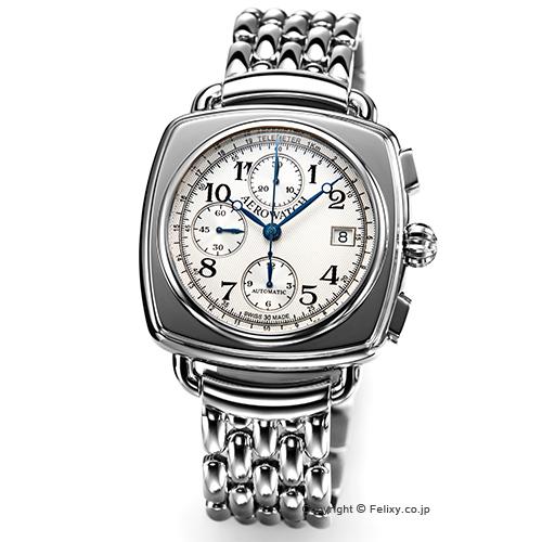 AEROWATCH アエロウォッチ メンズ腕時計 Collection1942 クロノグラフ シルバー A61912AA10SM 替えベルトセット 【あす楽】