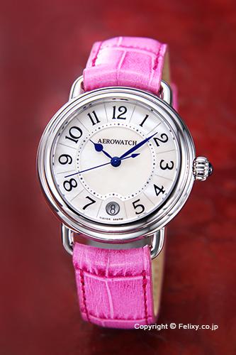 AEROWATCH アエロウォッチ レディース腕時計 A42960AA07 Collection1942 Lady (コレクション1942) ホワイトMOP