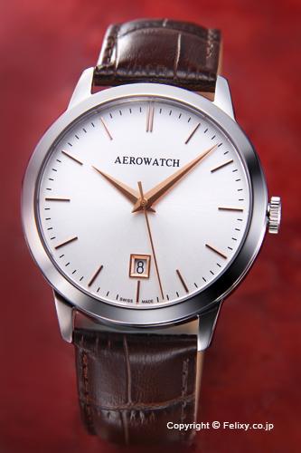 AEROWATCH アエロウォッチ メンズ腕時計 A42972AA02 LES GRANDES CLASSIQUES (グランド クラシック) シルバー
