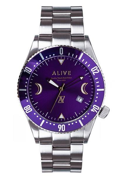 アライブアスレティックス 送料無料 正規代理店商品 アライブ アスレティックス 時計 ALIVE レディース メンズ Purple Silver GRAVITY ATHLETICS 腕時計 超激安特価 特価キャンペーン