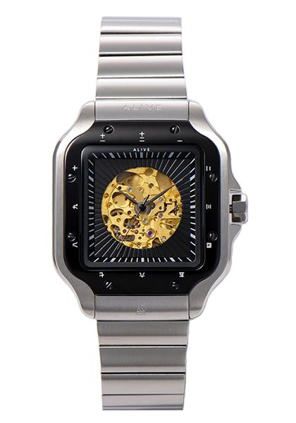 アライブ アスレティックス 時計 ALIVE ATHLETICS 腕時計 Naked Metal Silver